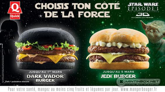 Un burger super dark chez quick
